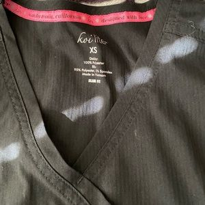 Koi Other - Koi Lite Black XS Scrub Top
